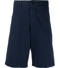 brunello cucinelli cotton bermuda shorts - blue
