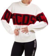 maglione maglia donna girocollo logo