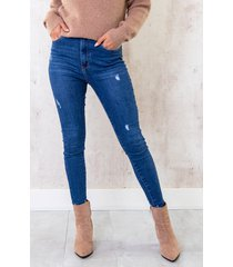 high waist skinny jeans damaged