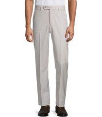 saks fifth avenue men's sharkskin wool dress trousers - blue - size 38