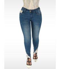 pantalón jeans dama azul di bello jeans ® classic jeans j135