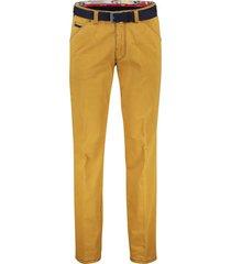meyer chicago pantalon 5-pocket riem geel