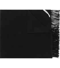 acne studios canada new oversized scarf - black