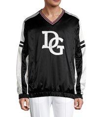 dolce & gabbana men's regular-fit logo sweatshirt - black - size 50