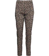 angelie 604 pantalon met rechte pijpen multi/patroon fiveunits