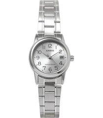 reloj analógico mujer casio ltp-v002d-7b - plateado