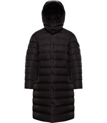 men's moncler born to protect project nicaise water resistant down puffer coat, size 6 - black