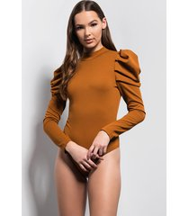 akira dust off your shoulders ruffle detail bodysuit