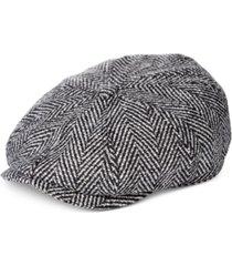 stetson herringbone newsboy cap