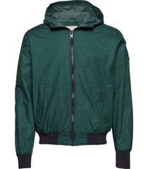 basswood hood jacket tunn jacka grön knowledge cotton apparel