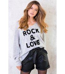 rock and love trui grijs