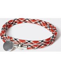 river island mens red rope wrap bracelet