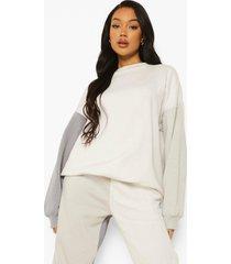 grijze colour block sweater, grey