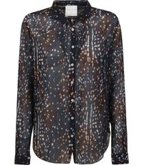 forte forte bambi`s song print co/se creponne voile shirt