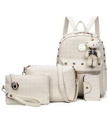 mochila de mujer/ mochila para mujer mochilas-blanco