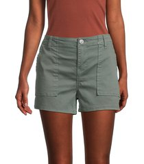 hudson women's solid utility shorts - washed olive - size 25 (2)