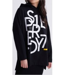 superdry women's edit oversized graphic hoodie