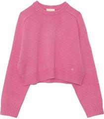 bruzzi oversized sweater in pink