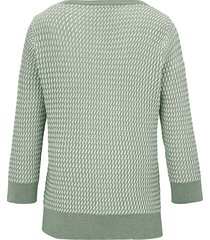 trui met 3/4-mouwen van peter hahn groen
