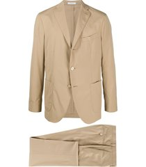 boglioli straight two-piece suit - neutrals