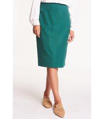 elegancka spódnica w kolorze butelkowej zieleni