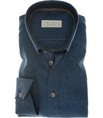 john miller linnen overhemd donkerblauw tailored