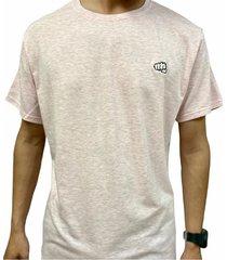 camiseta básica small logo rosado fist hombre