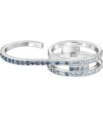 anillo swarovski fluidity plateado 5257546