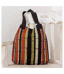 cotton shoulder bag, 'carnelian forest' (guatemala)