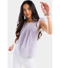 darcie eyelet blouse - lavender