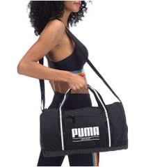 mala puma core base barrel - feminina - preto/branco