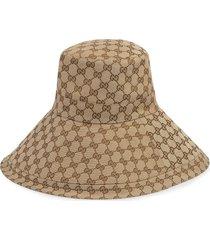 gucci gg wide brim hat - neutrals