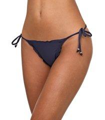 calcinha live! string fancy up lace ocean azul-marinho
