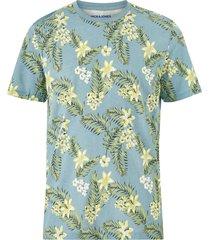 t-shirt jortropic aop tee ss crew neck