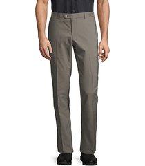 tech slim-fit flat-front pants