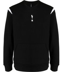 neil barrett star bolt-motif sweatshirt