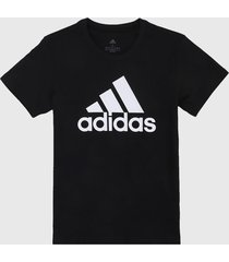 camiseta negro-blanco adidas performance loungewear essentials