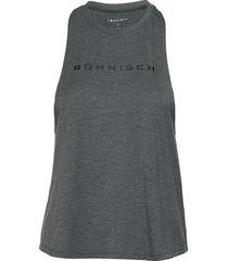 loose twist singlet t-shirts & tops sleeveless grå röhnisch