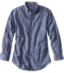 battenkill cotton blend long-sleeved shirt / regular, med blue/red, xx large
