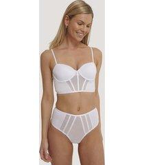 na-kd lingerie trosa med hög midja - white