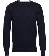 bs jupiter stickad tröja m. rund krage blå bruun & stengade