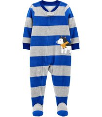 carter's toddler boy 1-piece dog fleece footie pjs