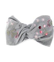 il gufo embroidered twist headband - grey