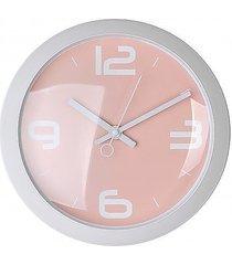 zegar okrągły retro pink