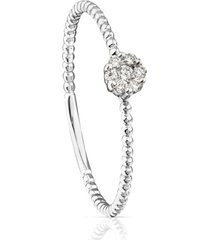 anillo tous brillants de oro blanco con diamantes 710405211
