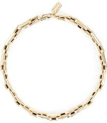 lucky link medium square 14k gold chain necklace