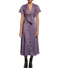 women's sandro catny print midi dress
