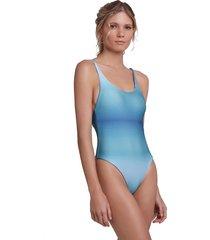 body arys swimwear asa dupla face oceano/chumbo