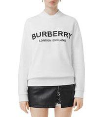 women's burberry fairhall logo print sweatshirt