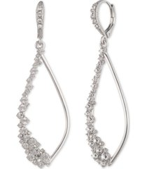 givenchy crystal stone open drop earrings